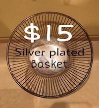 Silver plated basket.