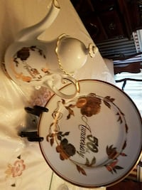 50th Anniversary teapot and plate 26 km