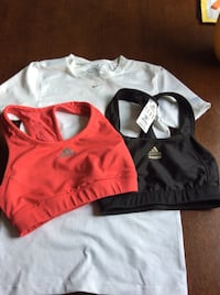 Two red and black adidas racer back sports bras Trenton, K8V 2V1