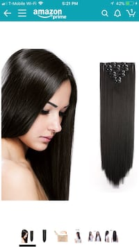 24 inch synthetic clip in extensions Las Vegas, 89119
