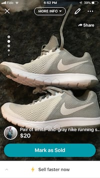 Pair of white-and-gray nike running shoes Langley, V3A