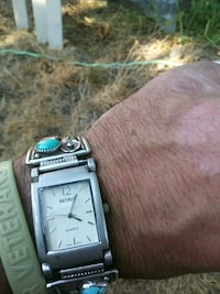 Silver and turquoise Benrus Watch Tacoma