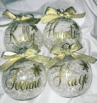 Personalized Christmas ornaments ball New Haven, 06513