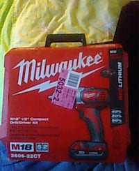 Milwaukee M18 Fuel power drill box