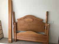 brown wooden bed headboard and footboard Las Vegas, 89141