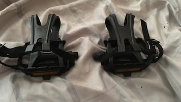 Sport Bike pedals with clips