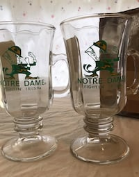 Irish coffee glasses by Notre Dame Chicago, 60640