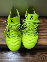 Adidas X15.1 FG/AG Leather Soccer Cleats Men's US 7.5 Yellow Toronto