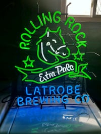 Rolling Rock bar sign. Barely used. Essex, 21221
