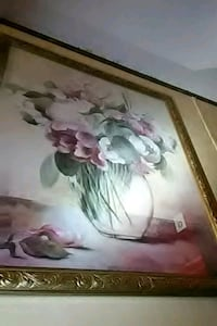 white and pink flower painting Gaithersburg, 20878