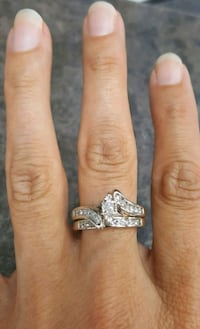 Marquise Diamond Wedding Set  Grain Valley
