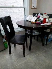 Wood kitchen table 4 chairs Ajax, L1S 5C7