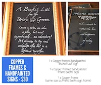 Hand painted wedding signs with frames Edmonton, T6J 5E6