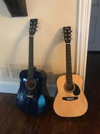 2 Johnson Guitars with carry bags Denton, 76210