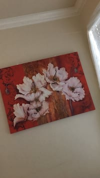 four white petaled flowers painting