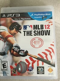 SONY PS3 MLB 12 The Show case San Jose, 95119