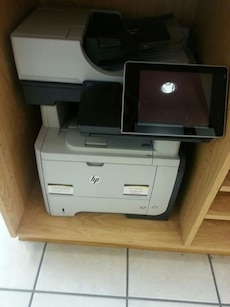 black and gray HP all in one printer