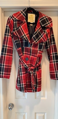 red and black plaid button-up peacoat Las Vegas, 89149