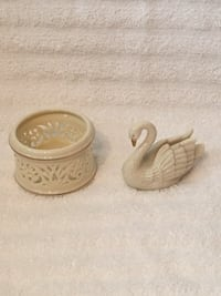 2 Small Lenox Porcelain / Gold Figurines—Like New Vienna, 22180