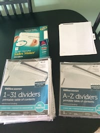 Office supplies: dividers for 3-ring binders Lake Worth, 33460