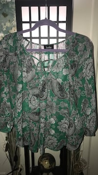 women's green and gray blouse Odessa, 79762