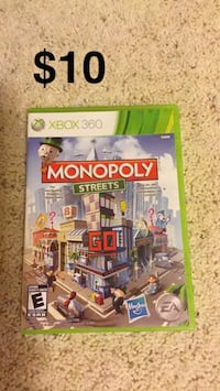 Monopoly Streets XBox 360 game case
