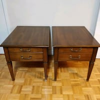 HEIRLOOM OF CANADA SOLID WOOD SIDE TABLES PAIR Toronto, M2J 2C2