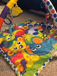 Play mat with toys