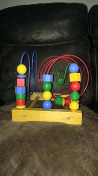 yellow, red, and green bubble wire maze
