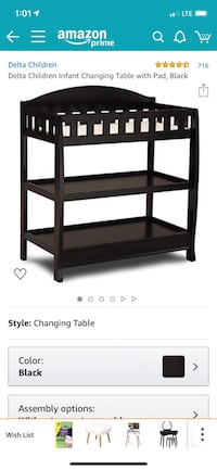 Delta Diaper  Changing table