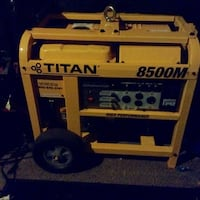 Yellow titan 8500m portable power generator Gaithersburg, 20878
