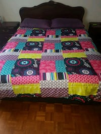 red, blue, and green floral bed comforter Toronto, M6E 2C7