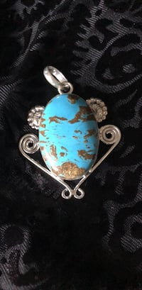 Turquoise Sterling Silver Pendant Phoenix, 85004