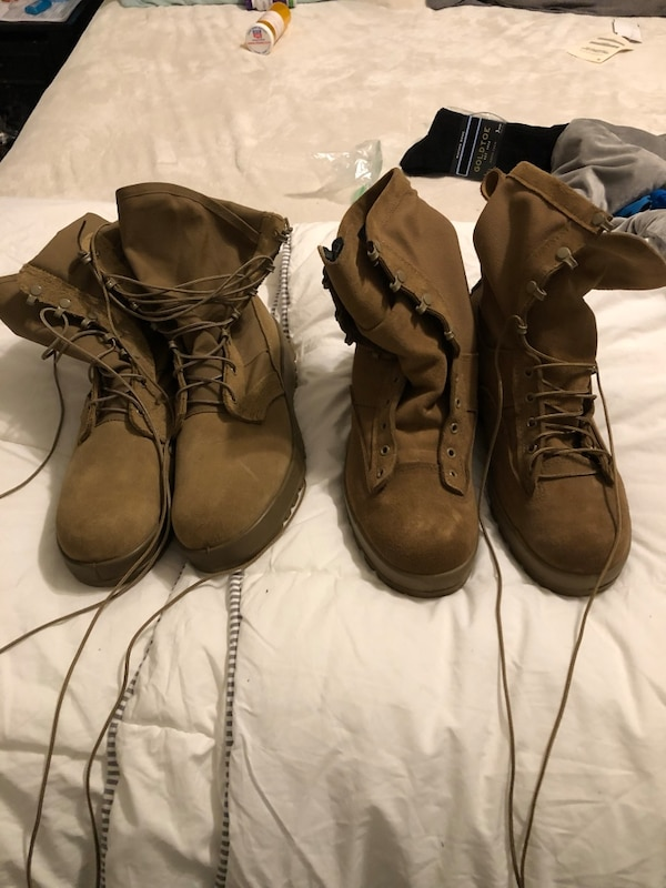038162f6660 Military hot weather and cold weather boots size 11R