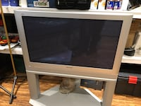 "42"" Panasonic Silver Gray TV with matching floor stand in like new. Uxbridge, L9P 1R1"