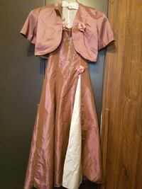 Rosa Satin Kleid mit rosa Strickjacke Berlin, 12047