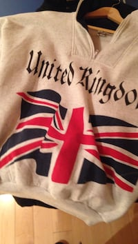 gray and red United Kingdom print hoodie Montréal, H2T