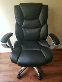 Leather desk chair with wheels Bowie, 20721