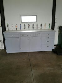 Work bench with beer taps