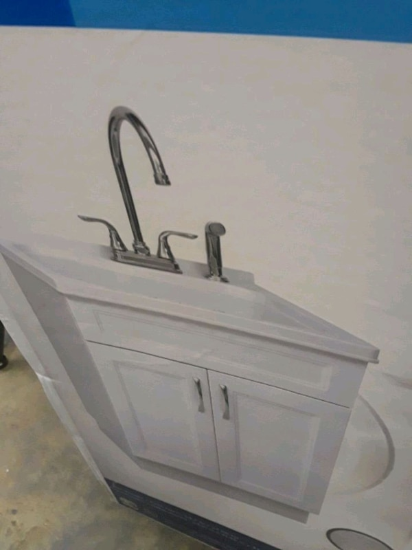 Used Utility Sink 24 Including Sink Cabinet And Fauce For Sale In