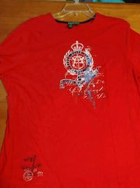 red and white crew-neck shirt Sweetwater, 37874