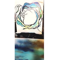 white and blue abstract painting O'Fallon, 63366