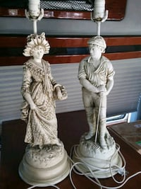 2 lovely figurine lamps w shades Nottingham, 21236