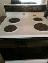 white and black 4-burner electric coil range oven Hagerstown, 21742