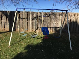 Swing set. Baby swing including