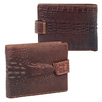 (NEW) Mens Leather Wallet Brown LONDON