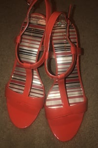 Anne Klein orange strappy heels sz 8 Washington, 20012
