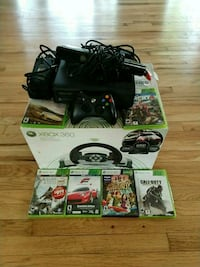 black Xbox 360 with kinect ans gamed  Shirley, 11967