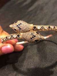 Serpent Snake Sapphire Topaz Sterling Silver Bangle Bracelet  Nashville, 37209