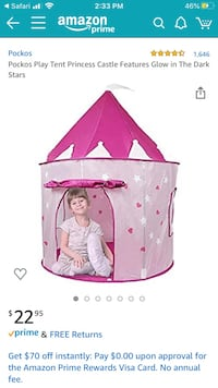 Pink Castle Play Tent